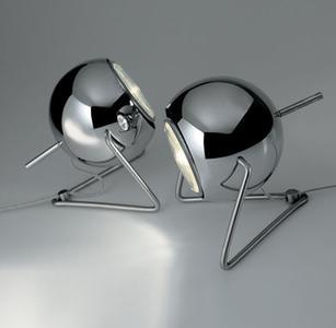 Lampada da Tavolo Beluga Steel di Fabbian in Cromo Lucido con Diffusore Orientabile - Offerta di Mondo Luce 24