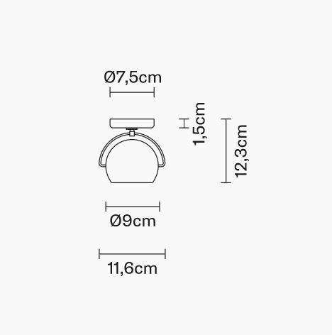 Lampada da Soffitto/Parete Beluga Steel di Fabbian con Struttura e Diffusore in Metallo Cromato Lucido - Offerta di Mondo Luce 24