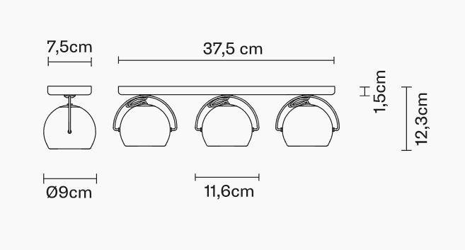 Lampade da Parete/Soffitto Multiple Beluga Steel di Fabbian in Metallo Cromato Lucido Orientabili - Offerta di Mondo Luce 24