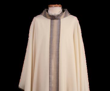 Casula in lana lurex con tessitura jacquard