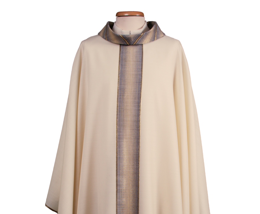 Chasuble in wool and lurex