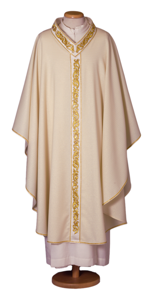 Chasuble in wool and lurex Cod. 65/017544