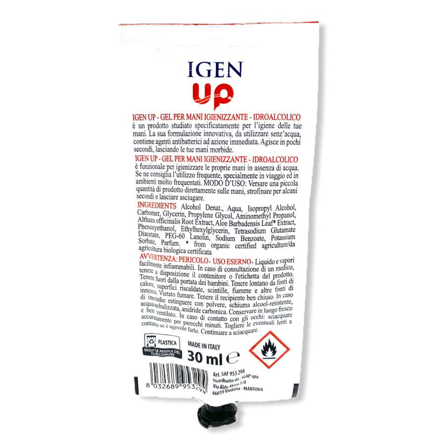 IGIEN UP - Gel igienizzante super pratico - 30 ml