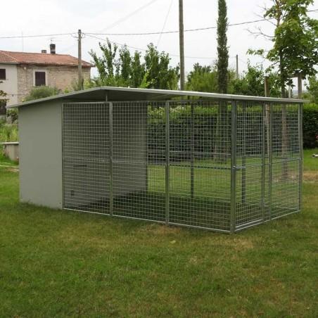 Box per cani con zona notte e giorno modulare