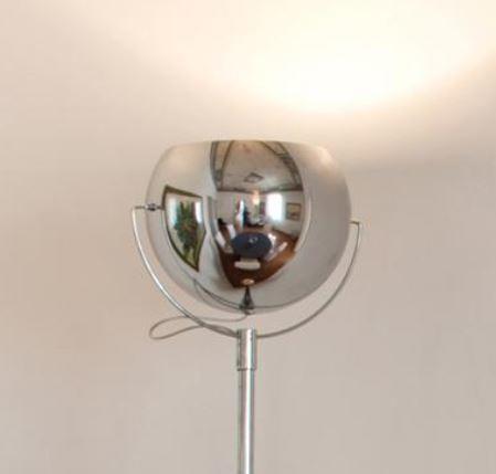 Lampada da Terra Beluga Steel di Fabbian in Cromo Lucido Orientabile - Offerta di Mondo Luce 24