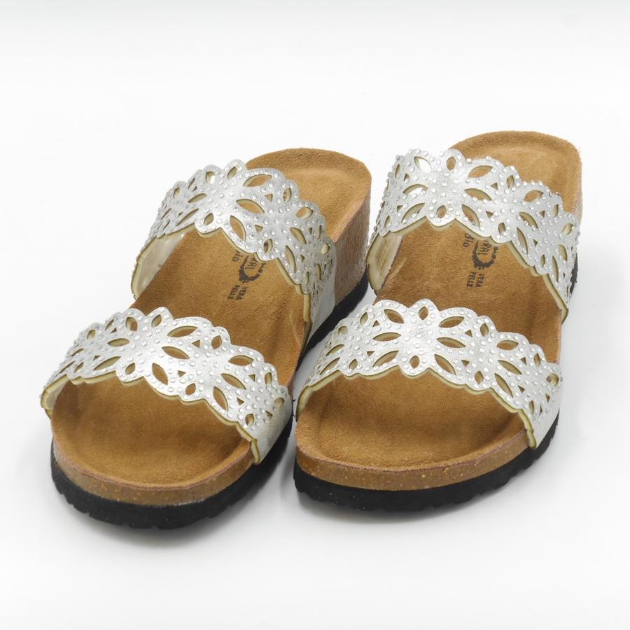 Sandalo a ciabatta in pelle Bio Natural
