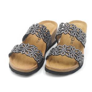 Sandalo a ciabatta in pelle Bio Natural nere