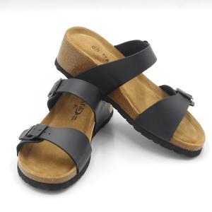 Sandalo a ciabatta con cinturini regolabili Bio Natural nere