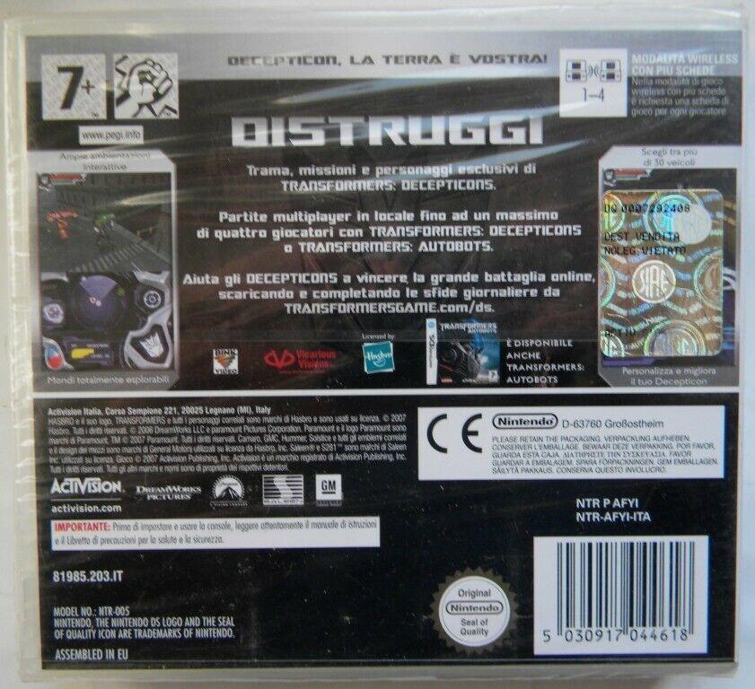 Transformer Decepticons NUOVO! - Nintendo DS - Ver. ITA