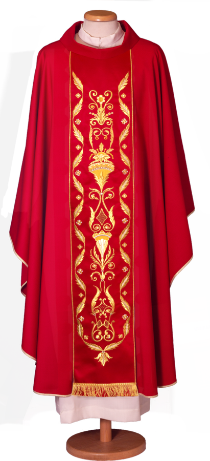 Chasuble with embroidered mantle Cod. 65/014910ST