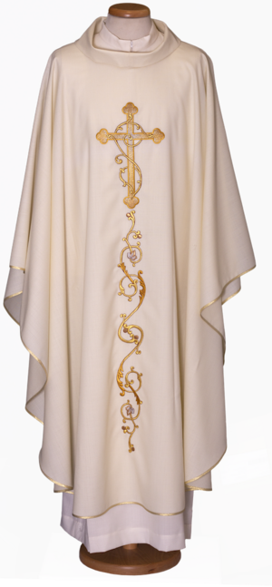 Machine embroidered chasuble Cod. 65/015703