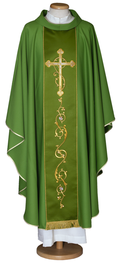 Chasuble with embroidered stolon Cod. 65/015703ST