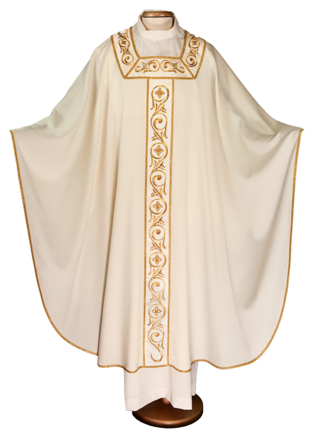 Chasuble with embroidered stolon Cod. 65/016359