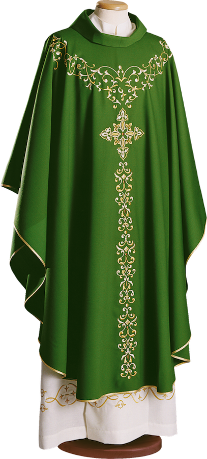 Chasuble with embroidered mantle Cod. 65/0033258