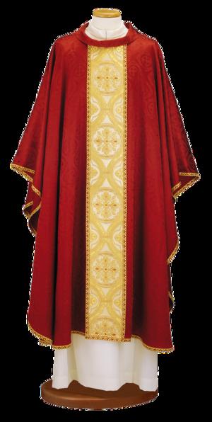 Casula in prezioso tessuto damasco con stolone in broccato