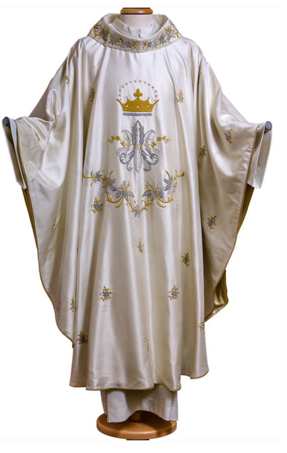 Marian chasuble. hand embroidered. Cod. 65/GAM400