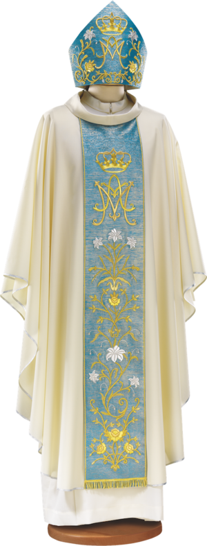 Hand embroidered marian chasuble Cod. 65/GM0016