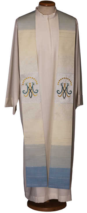 Stola Mariana ricamata in lana lurex