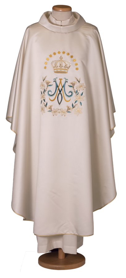 Marian chasuble in polyester Cod. 65/017785