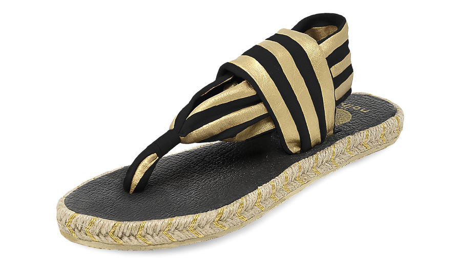 Nalho - Ganika - Sandal Metallic Black Gold