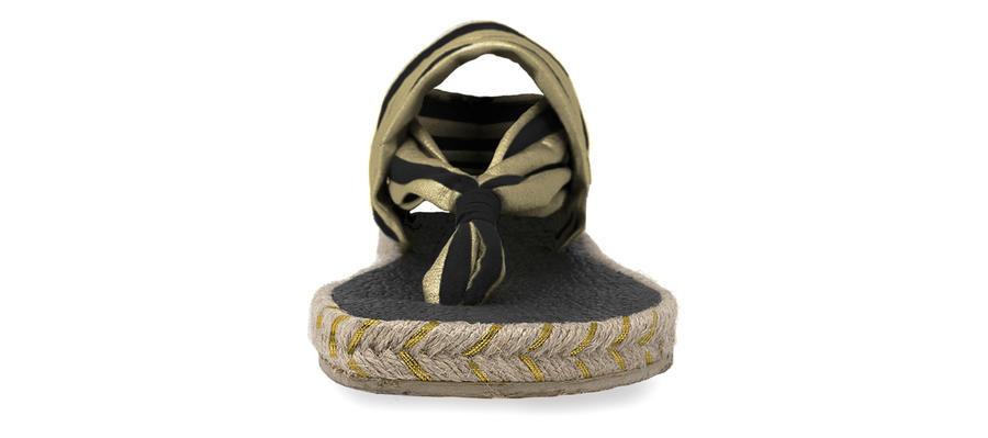 Nalho - Ganika - Sandal Metallic Black Gold