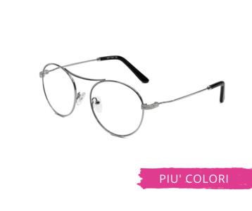 Montatura in metallo OcchialeAmico OSRC07 - Lenti neutre Blu Protect incluse
