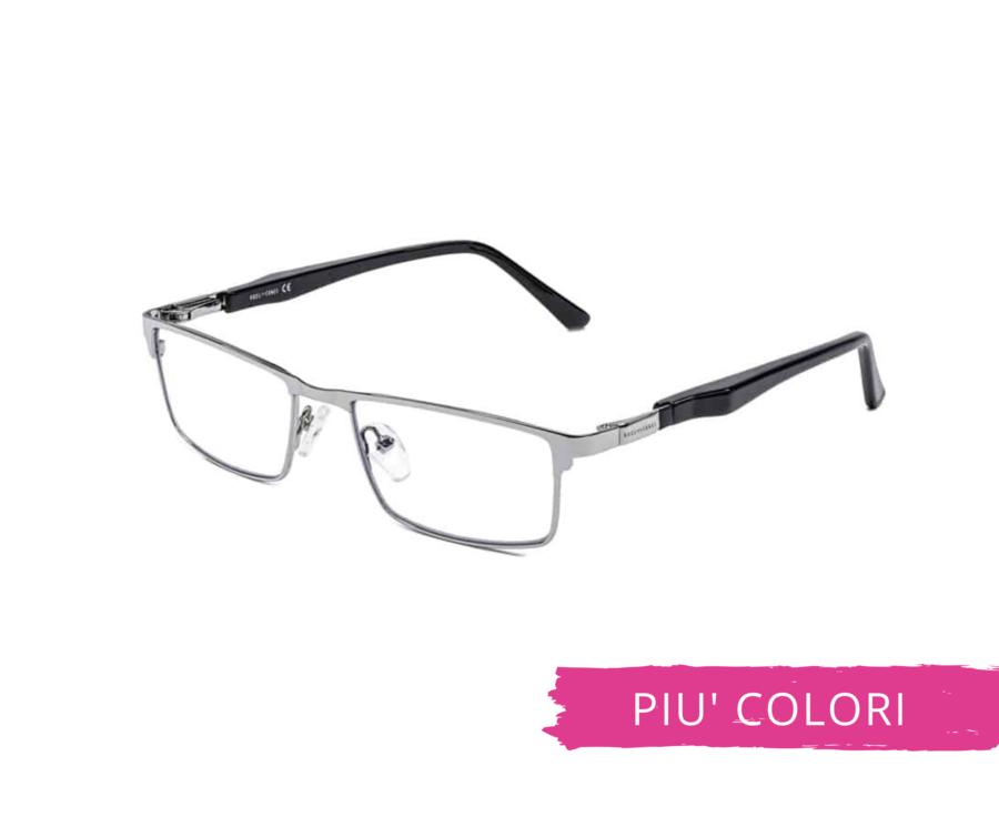 Montatura in metallo OcchialeAmico OSRC06 - Lenti neutre Blu Protect incluse