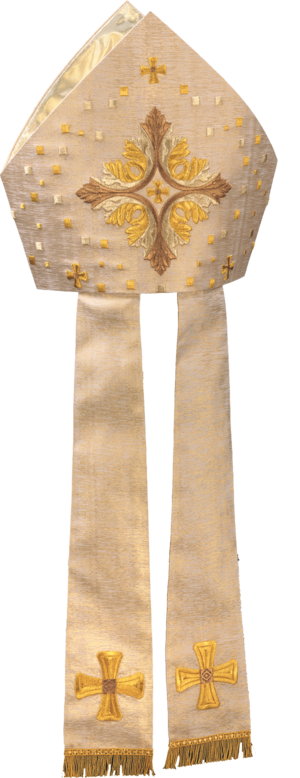 Machine embroidered mitre Cod. 87/038554