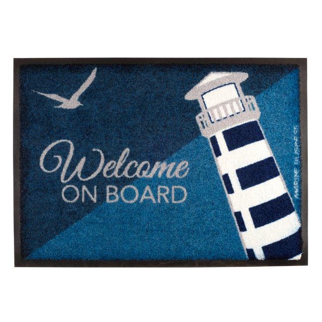 Tappetino Antiscivolo con Faro Welcome On Board - Offerta di mondo Nautica 24