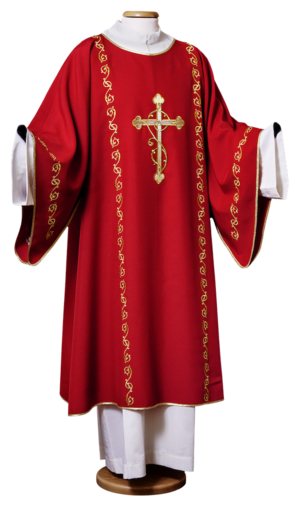 Machine embroidered dalmatic Cod. 86/D15703