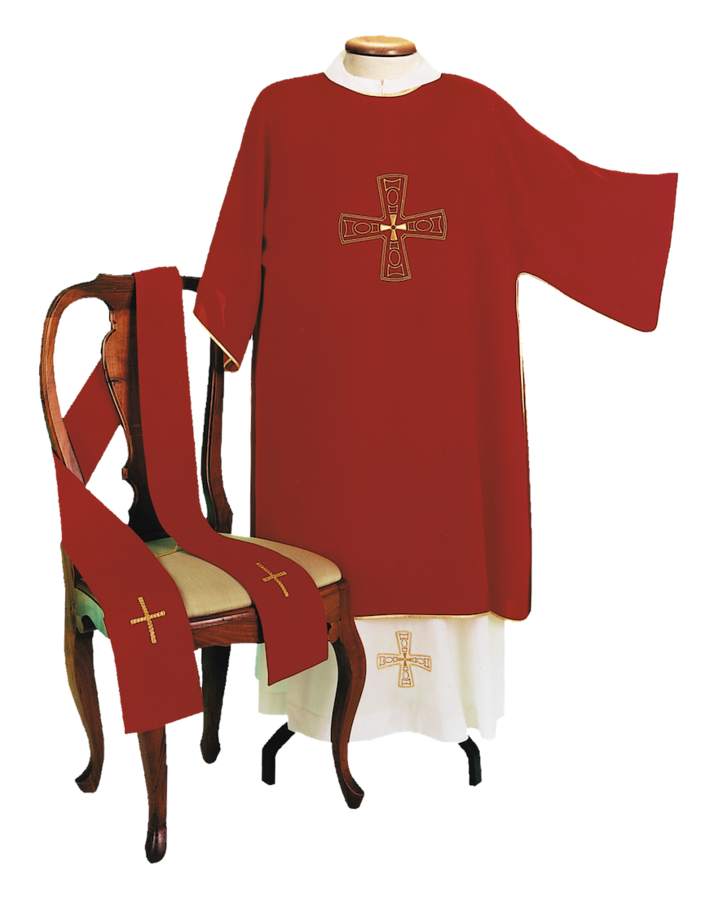 Machine embroidered dalmatic Cod. 86/DAl453