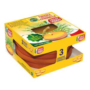 Fiaccola in Cotto Citronella cm 14 confezione da 3 pz
