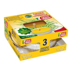 Fiaccole in Stagnola Citronella confezione da 3 pz