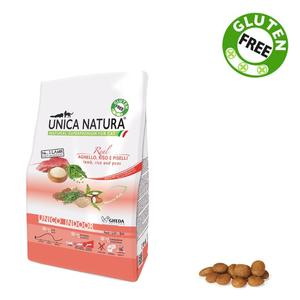 Unica Natura Indoor Gatto Agnello & Riso Disponibile nei formati 350 gr - 1,5 Kg