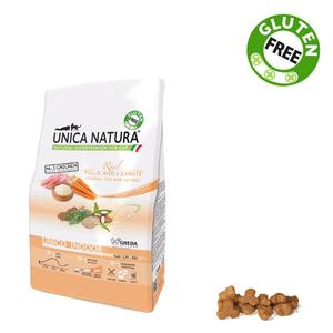 Unica Natura Indoor Gatto Pollo & Riso Disponibile nei formati 350 gr - 1,5 Kg