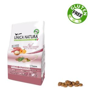 Unica Natura Outdoor Gatto Anatra & Riso Disponibile nei formati 350 gr - 1,5 Kg