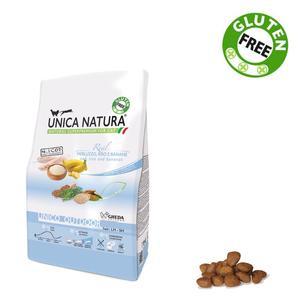 Unica Natura Outdoor Gatto Merluzzo & Riso Disponibile nei formati 350 gr - 1,5 Kg