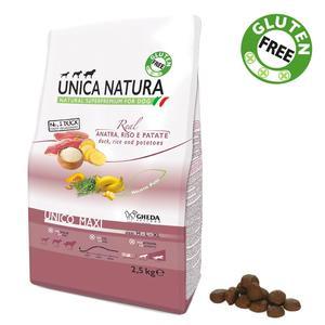 Unica Natura Maxi Cane Anatra Disponibile nei formati 2,5 - 12 Kg