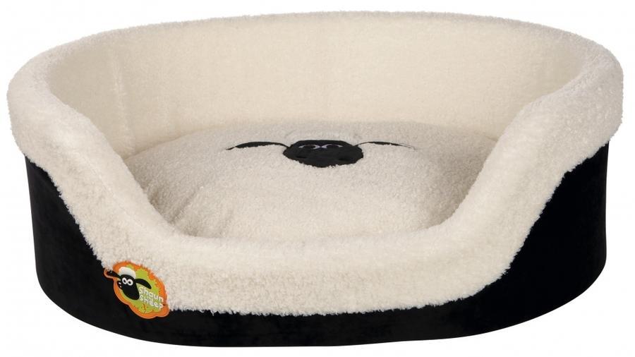 Trixie Shaun The Sheep Cuccia Gigante Per Cani Bianca Effetto Pecora 100x75 cm