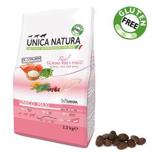 Unica Natura Maxi Cane Salmone Disponibile nei formati 2,5 - 12 Kg