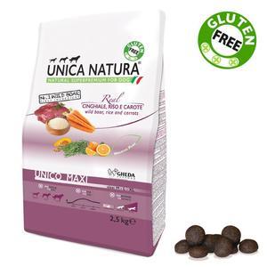 Unica Natura Maxi Cane Cinghiale & Riso Disponibile nei formati 2,5 - 12 Kg