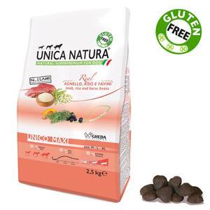 Unica Natura Maxi Cane Agnello & Riso Disponibile nei formati 2,5 - 12 Kg