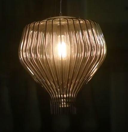 Lampada a Sospensione Saya di Fabbian in Vetro Soffiato e Metallo Diametro 48 cm, Varie Finiture - Offerta di Mondo Luce 24