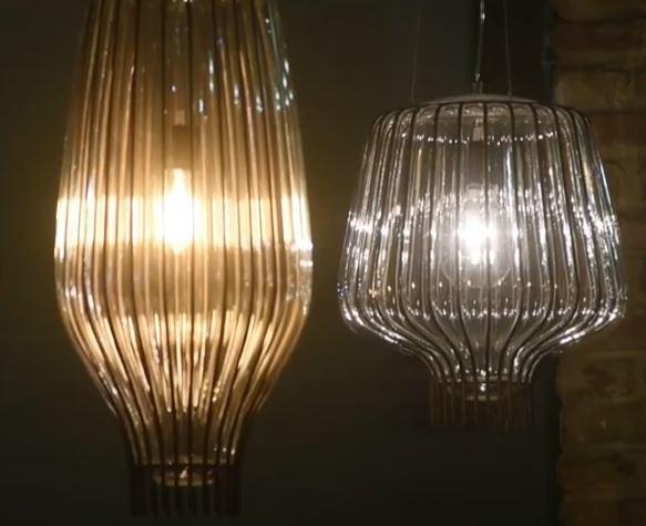 Lampada a Sospensione Saya di Fabbian in Vetro Soffiato e Metallo Diametro 31 cm, Varie Finiture - Offerta di Mondo Luce 24