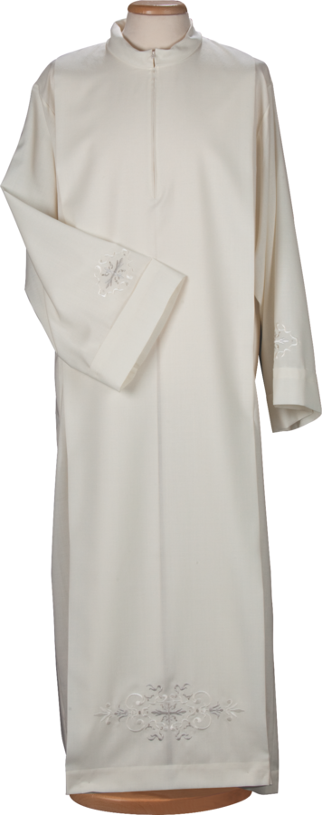 Alb and surplice in cotton and polyester Cod. 70/014446 and 75/014446