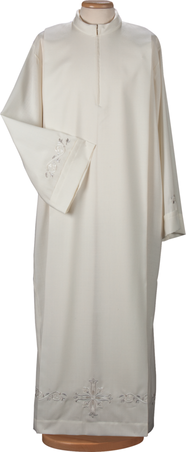 Alb and surplice in cotton and polyester Cod. 70/014479 and 75/014479