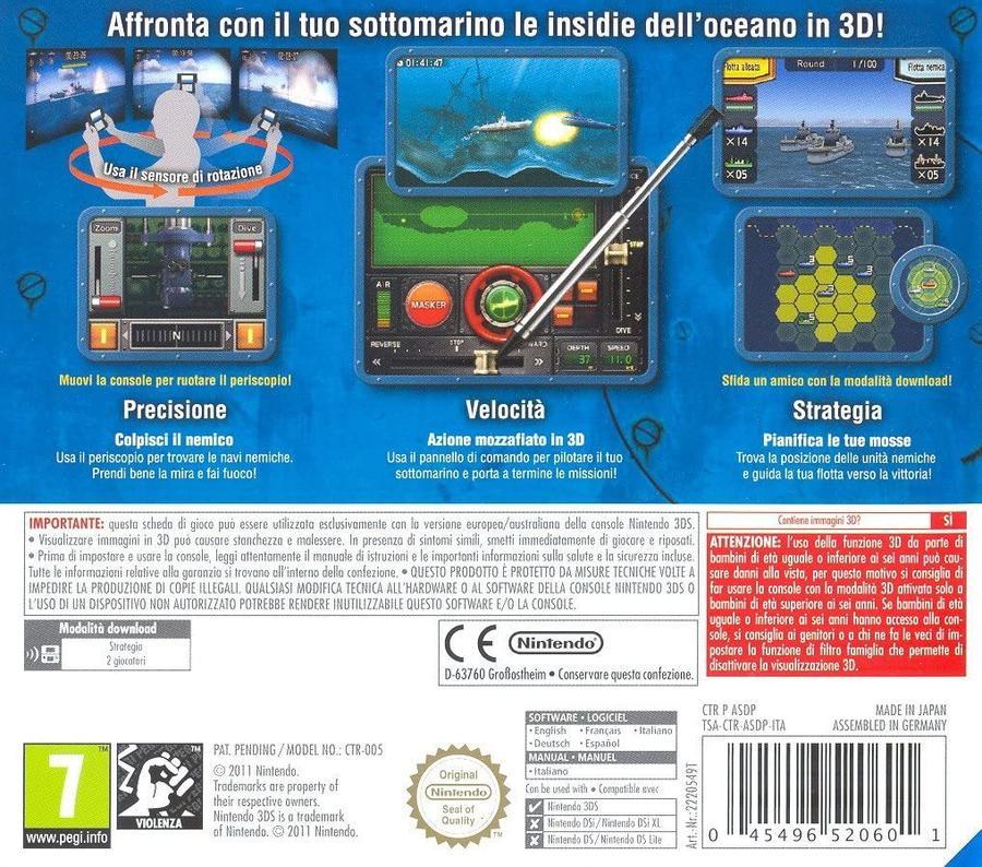 Steel Diver NUOVO! - Nintendo DS - Ver.ITA