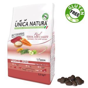 Unica Natura Mini Cane Cervo, Riso & Carote Disponibile nei formati 800 gr - 2,5 Kg
