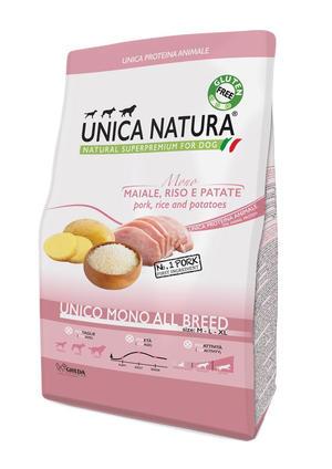 Unica Natura All Breed Cane Maiale Disponibile nei formati 2,5 - 12 Kg