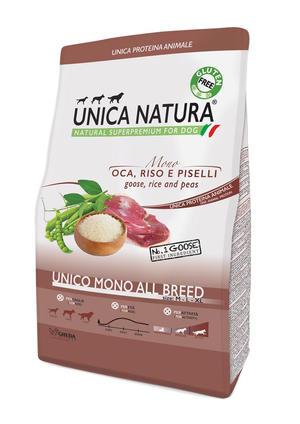 Unica Natura All Breed Cane Oca Disponibile nei formati 2,5 - 12 Kg